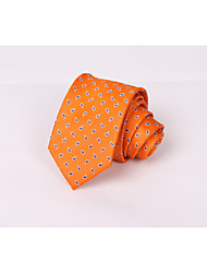 Silk tie men's orange European and American cashew nuts business suit leisure silk tie