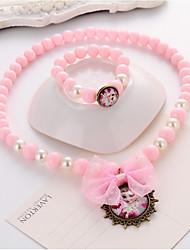 Fille Set de Bijoux Pendentif de collier Collier / Bracelet Perle imitéeBasique Circulaire Pendant Cercle Amitié Adorable Le style mignon