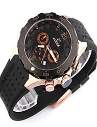 Men's Fashion Watch Quartz Water Resistant / Water Proof Rubber Band Black