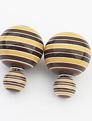 Euramerican Personalized  Adorable Sweet  Ball Earrings Lady Business Stud Earrings Statement Jewelry