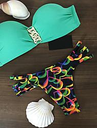 Bikini (Nailon)- Push-Up/Sujetador con Soporte Para Mujer