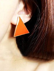 Stud Earring Triangle Vintage Jewelry Candy Color Alloy Beach Gift Jewelry