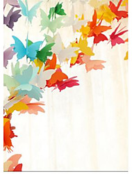 Three Meters Long 25 Hanging Pieces Of Paper Butterfly Love Round Paper Flower Pendant Paper Chain Wreath