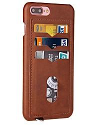 Назначение iPhone X iPhone 8 Чехлы панели Бумажник для карт Задняя крышка Кейс для Сплошной цвет Твердый Искусственная кожа для Apple