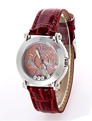 Mulheres Relógio de Moda Quartzo Podômetro Couro Banda Pendente Vermelho