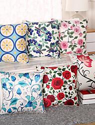 1 pcs Soie Housse de coussin Taie d'oreiller,Fleur Nouveauté Euro Moderne/Contemporain Décontracté Rétro Traditionnel/Classique