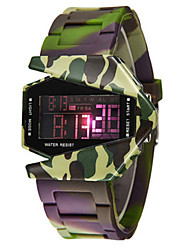 Men's Fashion Watch Digital Watch Digital Silicone Band Green