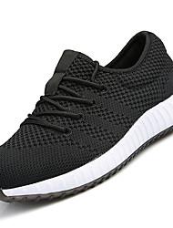 Men's Athletic Shoes PU Spring Summer Low Heel Black Blue Under 1in