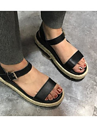 Damen Sandalen Komfort Leuchtende Sohlen Echtes Leder Sommer Normal Komfort Leuchtende Sohlen Weiß Schwarz Flach