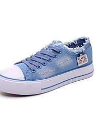 Women's Sneakers Creepers Comfort Denim Spring Casual Light Blue Navy Blue Flat