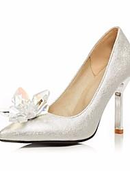 Damen High Heels PU Frühling Silber Flach