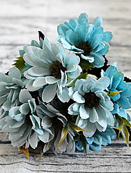 5 Fork Small Daisy Artificial Bouquet for Home Decor and Wedding Decorations