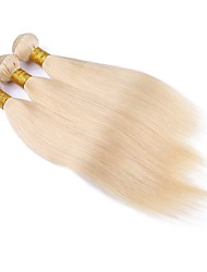 Silky Straight Hair Weave Bleached Blonde Human Hair Extension/Weft 100% Brazilian Virgin Remy Human Hair Bundles #613