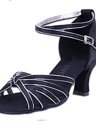 Maßfertigung Damen Latin PU Sandalen Absätze Innen Verschlussschnalle Niedriger Heel Gold Silber Rot 5 - 6,8 cm