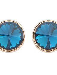 Mujer Chica Pendientes cortos La imitación de diamante Diseño Básico Circular Diseño Único Diamantes Sintéticos Geométrico Círculo