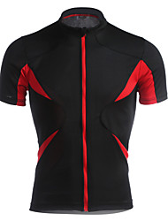 Jaggad Cycling Jersey Men's Unisex Short Sleeve Bike Jersey Tops Quick Dry Breathable Polyester Elastane Patchwork Spring Summer