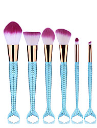 6Makeup Brush Set Blush Brush Eyeshadow Brush Eyeliner Brush Eyelash Brush dyeing Brush Powder Brush Sponge Applicator Foundation Brush