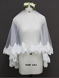 Véus de Noiva Duas Camadas Borda com aplicação de Renda