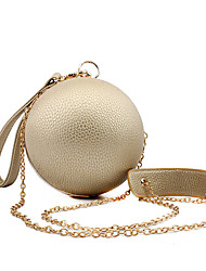 L.WEST Women's The Elegant Luxury PU Round Hand Bags Evening Bag