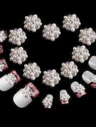 10 peças de diamante floco de neve super brilhantes decorações de unha