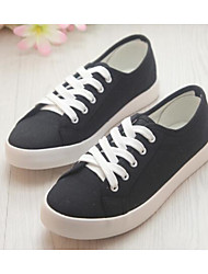 Women's Flats Comfort Canvas Spring Casual Black White Flat