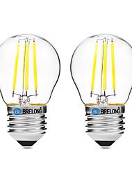 4W LED лампы накаливания G45 4 COB 300 lm Тёплый белый Белый UV (лампа черного света) Диммируемая V 2 шт.