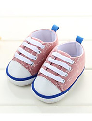 Baby Flats First Walkers Cotton Fabric Spring Fall Casual Outdoor Walking First Walkers Magic Tape Low HeelBlack Blushing Pink Light