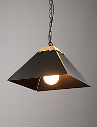 Single Head Industrial Amercian Loft Style Wood with Metal Painting Color Pendant Lamp for the Canteen / Study Room /Loyer Decorate Drop Light