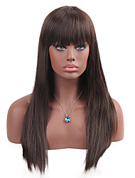 MAYSU  Natural Bangs  Prevailing  Long Straight Hair  Synthetic Wigs