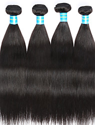Vinsteen 4Bundles Straight Human Hair Extensions Brazilian Hair Weave Natural Human Hair Weft Silky Human Hair Weaves Cheap Human Hair Weft