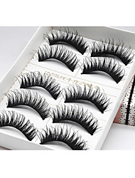 5 Pairs Of Thick Crossed And Messy Hot Style Stage Smoky Eye Lashes