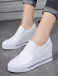 Women's Sneakers Comfort PU Spring Casual Comfort Black White 2in-2 3/4in
