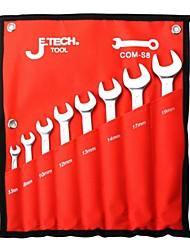 Jtech métrica juego de llaves combinadas 6 pack com-s6b / 1