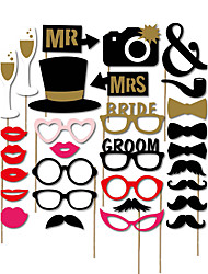 30pcs Wedding Photo Booth Props Photobooth Party Decoration