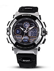 Men's Sport Watch Quartz Noctilucent PU Band Black