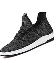 Herren Sneaker Komfort Leuchtende Sohlen Tüll Ganzjährig Sport Outdoor Kleidung Walking Komfort Leuchtende Sohlen SchnürsenkelFlacher