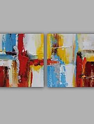 Peint à la main Abstrait Deux Panneaux ToileDécoration d'intérieur