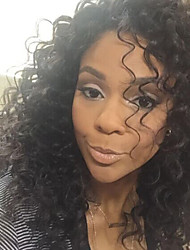 150% Density Brazilian Virgin Hair Glueless Lace Wigs Kinky Curly Lace Front Human Hair Wigs New Virgin Hair Wig for Woman