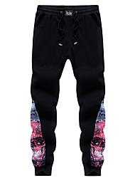 Hombre Sencillo Chic de Calle Activo chinoiserie Adorable Cosecha Tiro Bajo Microelástico Ajustado Chinos Pantalones,Delgado Pantalones