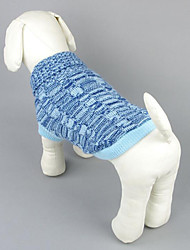 Dog Sweater Dog Clothes Casual/Daily Solid Fuchsia Blue