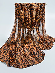 Chiffon Scarves Voile Leopard Korea Scarf Shawl Thin Long Rectangle Women's Beach UV Sunscreen Bohemia Retro Print