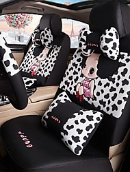 Car Seat Cushion Car Ceat Cushion Cets Of Family Car Cartoon Cute Ice Silk Cloth Material---Cow Pattern-212-2 Girls