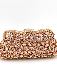 Women Evening Bag Polyester Special Material All Seasons Casual Event/Party Wedding Minaudiere Acrylic Jewels Crystal/  Handbag Clutch More Colors
