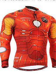 Homme Vélo Vêtements de Compression/Sous maillot Cyclisme Spandex Rayé Printemps Cyclisme/Vélo Rouge clair