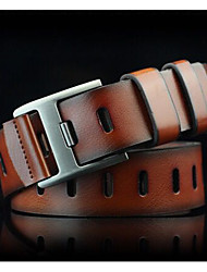 Men's casual pin buckle belt Youth restores ancient ways wide hole belt Allergy belt personality The cowboy belts