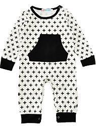 Una Pieza Bebé Estampado Algodón Mezclado Manga Larga Primavera/Otoño Invierno