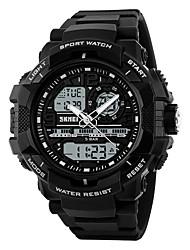 Men's Sport Watch Digital Watch Digital PU Band Black