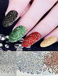 New 500Pcs Micro Diamond DIY Nails Rhinestones Crystal Flat Back Non Hotfix Rhinestones stickers Need Glue Nail Art Decoration