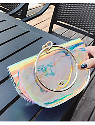 Women Shoulder Bag PU All Seasons Casual Outdoor Round Clasp Lock White