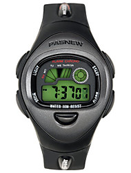 Kid's Sport Watch Digital Water Resistant / Water Proof Rubber Band Black